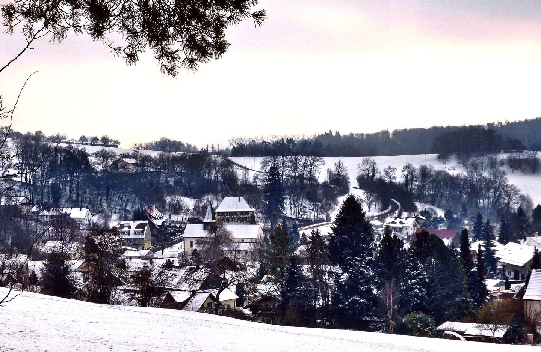 Schienen im Winter