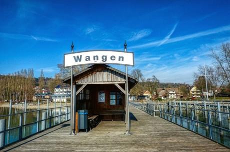 Wangen - Schild an der Schiffslände