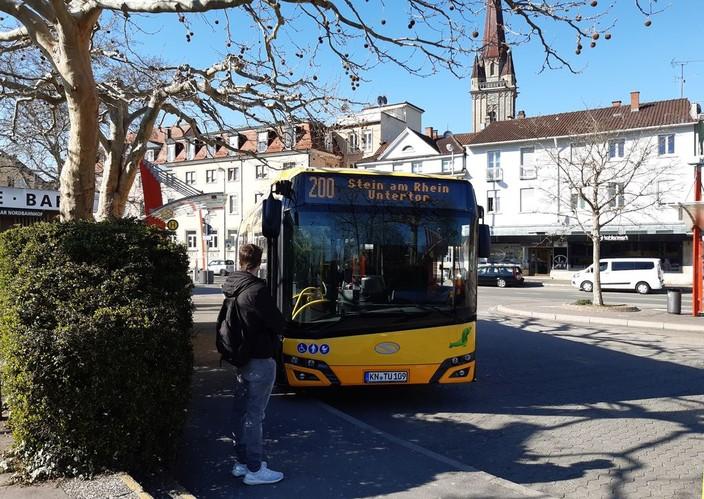Höribus an der Haltestelle in Radolfzell